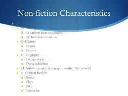 tuesday s morrie mitch albom ppt video online  4 non fiction characteristics