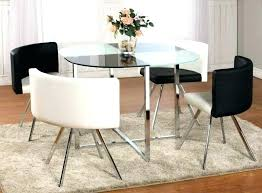 glass dining table with 4 renzo grey chairs round