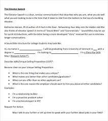 Elevator Speech Samples Under Fontanacountryinn Com