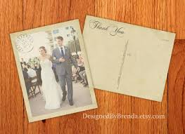 vintage wedding thank you postcards with postmark & photo Custom Photo Thank You Cards Wedding Custom Photo Thank You Cards Wedding #33 Wedding Thank You Card Designs
