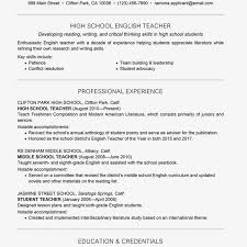 Resume Examples In English For Job How To Write Resume For Teachers Assistant Position Teaching