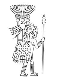 aztec warrior and princess black and white. Plain White Aztec Warrior Coloring Page Throughout And Princess Black White I