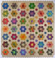 Batik hexagon quilt top – done! | Hexagon quilting, English paper ... & Batik hexagon quilt top – done! Adamdwight.com