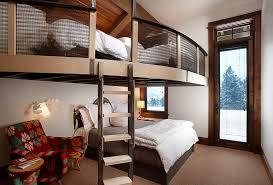 Graceful Adult Loft Bed Frame Bohemian Plywood Closet Table