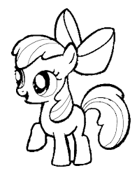 my little pony clipart coloring book 1