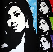 amy winehouse pop art painting by venus 48 x 48 acrylic on canvas
