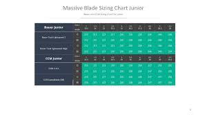 Ccm Runner Size Chart Massive Blade Classic Runners