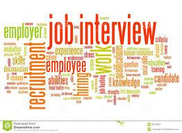 Employment Interview Stock Illustration Illustration Of Words