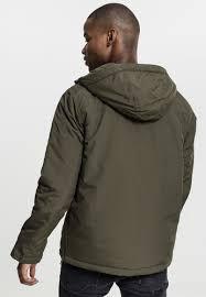 <b>Куртка</b> URBAN <b>CLASSICS Padded</b> Pull Over <b>Jacket</b> Olive купить в ...
