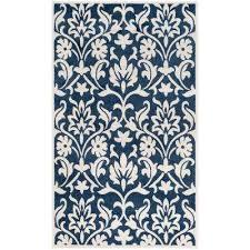 amherst navy ivory 6 ft x 9 ft indoor outdoor area rug