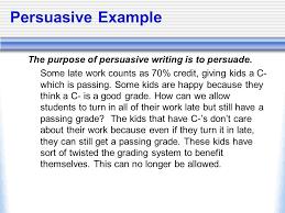 persuasive writing the persuasive writing course contains 7 persuasive