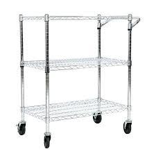 office rolling cart. Marvelous Rolling Shelf Cart 3 Tire Kitchen Office Steel Wire  Storage Heavy Duty Chrome 4 Office Rolling Cart E