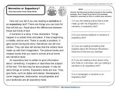 What Is Expository Text Narrative Or Expository 2nd Grade Reading Comprehension
