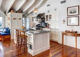 bob wallace appliance for a beach style kitchen with a blue and white color scheme and