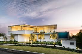 luxury beach house with cantilevered pool