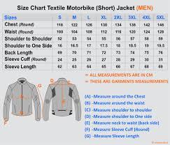 Teknic Jacket Sizing Guide