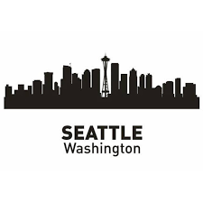 Small Picture Aliexpresscom Buy SEATTLE City Decal Landmark Skyline Wall
