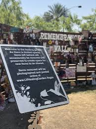 the healing garden was built in three days following the shooting at the route 91 harvest festival community members and local businesses helped place 58