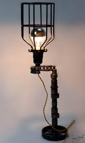 upcycled motorcycle chain lamp
