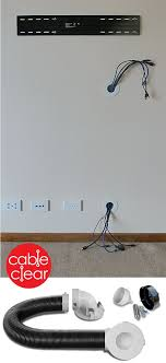 hide tv cables inside the wall quickly