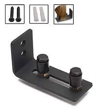 adjule stay roller guide barn door floor guide heavy duty wall mounted door wheel hardware for