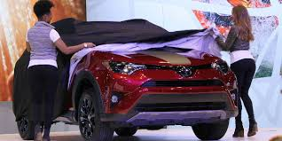 2018 toyota rav4 limited. contemporary toyota red and black 2018 toyota rav4 adventure unveiled on stage at 2017 chicago  auto show in toyota rav4 limited
