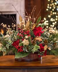 Vintage Holiday<br>Silk Flower Centerpiece ...