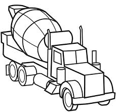 Truck Color Pages Picture Of Cement Truck Semi Truck Coloring Page