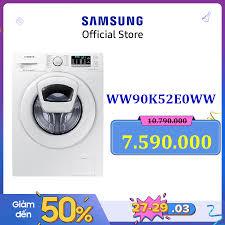 Free giao hàng - lắp đặt hãng] Máy giặt cửa trước Samsung WW90K52E0WW/SV  Inverter AddWash 9Kg (Trắng) - Hãng phân phối chính thức chính hãng