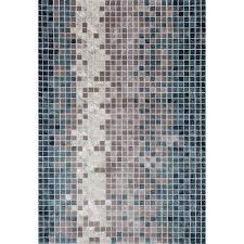 art carpet titanium mosaic aqua 8 ft x 11 ft area rug