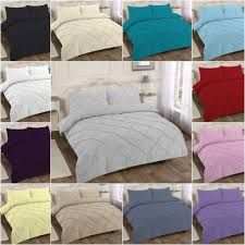 details about pintuck pleated bedding duvet cover quilt single double super king lilac plum