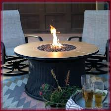 small round propane fire pit table top