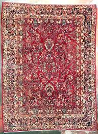 9x12 persian rug vintage 9 x cherry red for