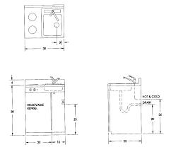 average kitchen sink size plug