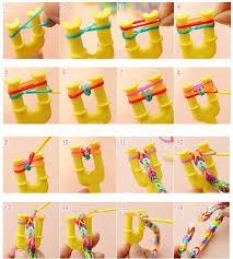 diy rubber band bracelet loom bracelet refills children toy gift 6 boxes kit