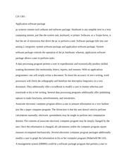 computer literacy essay cis for over fifty years starting  2 pages application software essay