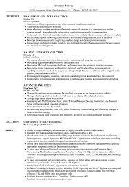 Advanced Resume Advanced Analytics Resume Samples Velvet Jobs