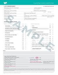 Vehicle Inspection Form Uber Lift Vehicle Inspections JUST SMOGS 19