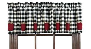 checd valance white and black kitchen curtains black and white checd valance black and red kitchen