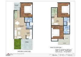 20 40 duplex house plan elegant x house plans plan duplex square feet north facing east