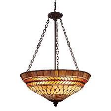 landmark lighting 3 light art glass leaf pendant finished in bronze bed bath