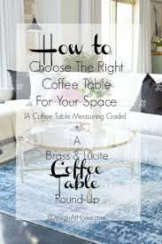 how to choose the right coffee table for your space a coffee table measuring guide