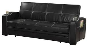 contemporary leather sofa sleeper. faux leather sofa bed sleeper lounger with storage cup holders pop up trundle contemporary-futons contemporary i