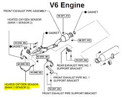 similiar toyota highlander oxygen sensor diagram keywords 2000 toyota camry oxygen sensor diagram as well 2001 toyota avalon o2