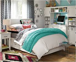 Teen Girls Bedroom For Small Room Features Big Cream Wardrobe Small Cream  Drawer Also Small Cream Bedside Table And Computer Table Chair Set
