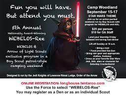 5Th Annual Webelos-Ree At Camp Woodland