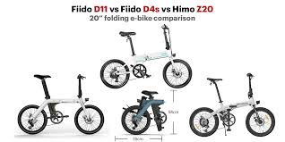 "<b>Fiido</b> D11 vs <b>Fiido D4s</b> vs Himo Z20 - 20"" folding e-bike comparison ..."