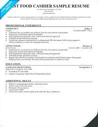Cashier Resume Job Description Nfcnbarroom Com