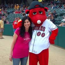 Kristie Smith Throws Out First Pitch at Indians Game | Indy Homes Team