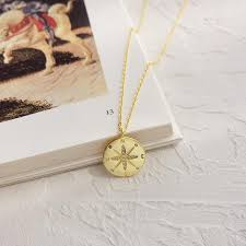 2019 louleur 925 sterling silver gold compass letter pendant necklace round creative chic elegant necklace for women fine jewelry j190525 from landong06